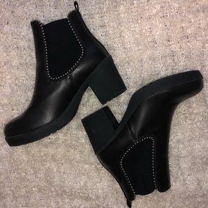 Nasty Gal Studded Black Booties